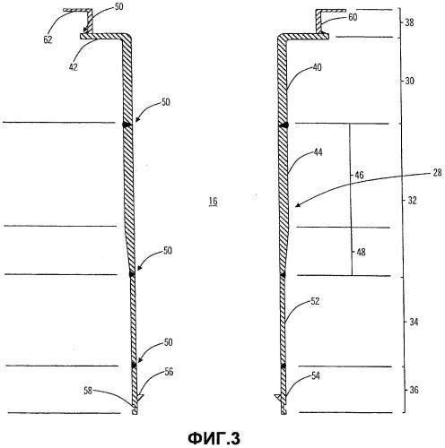 Трубчатая установка риформинга с переменной толщиной стенок и соответствующий способ получения