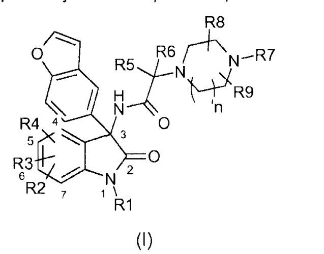 Замещенные производные 3-бензофуранил-индол-2-он-3-ацетамидопиперазинов, их получение и их применение в терапии