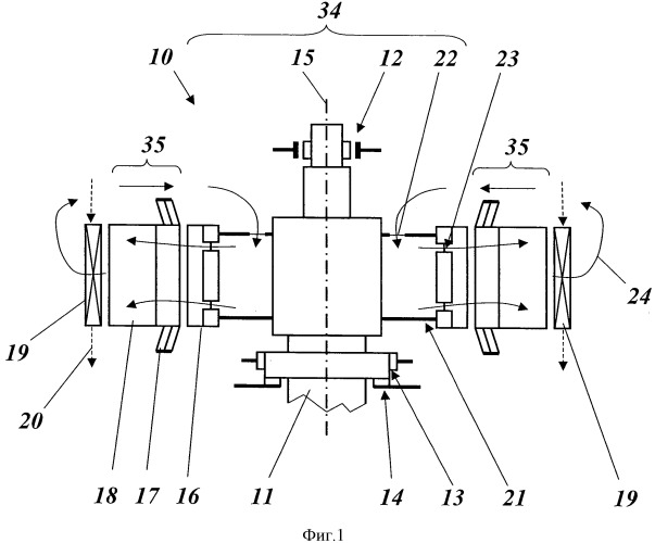 Двигатель-генератор с воздушным охлаждением и способ эксплуатации двигателя-генератора