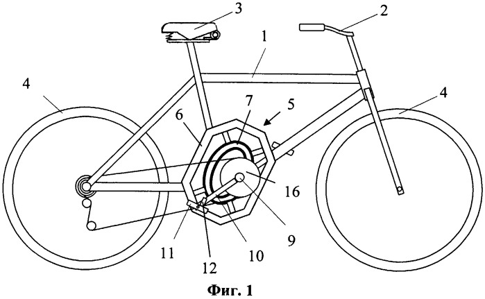 Велосипед с эллиптическим приводом