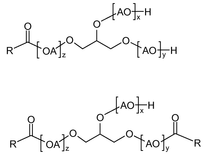 Состав гербицида, содержащий глифосат и алкоксилированные глицериды (варианты) и способ борьбы с нежелательной растительностью