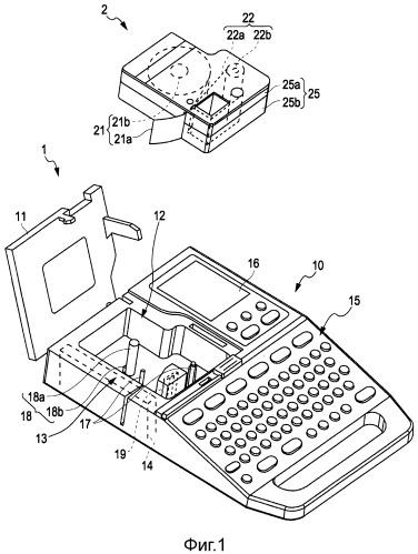 Ленточный картридж и ленточное печатающее устройство