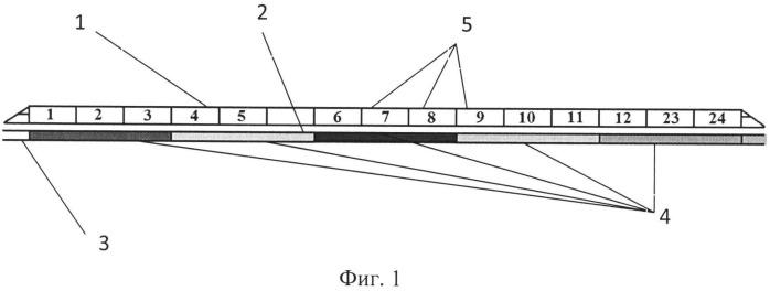Устройство для определения мест остановки вагонов пассажирского поезда