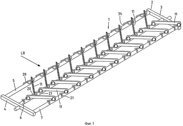 Устройство соскабливания материала с нижней ветви ленточного конвейера