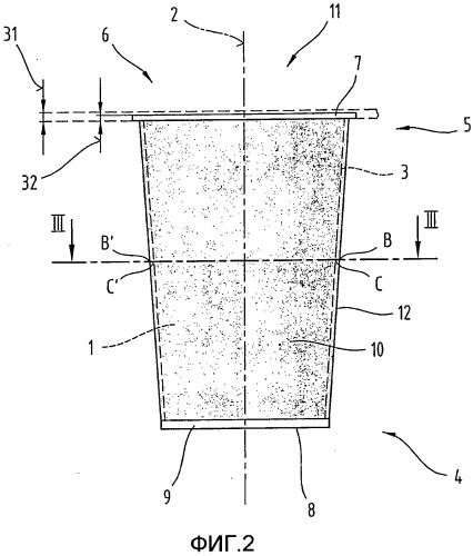 Упаковочный контейнер, в частности для пищевых продуктов