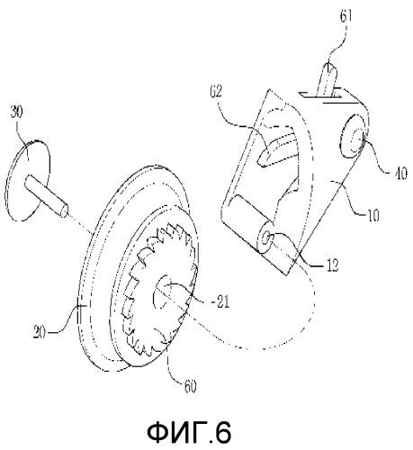 Блочка для шнурка для ботинок, использующая асимметричный ролик