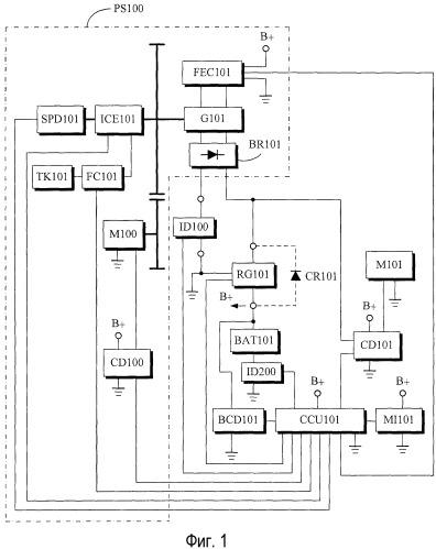 Система одновременной зарядки и обеспечения выходного питания аккумуляторной батареи с ограничением тока