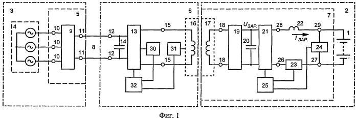 Устройство для зарядки аккумуляторной батареи подводного объекта