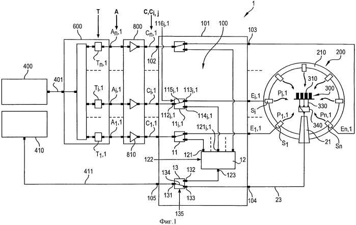 Система имитации электромагнитной обстановки с сетью из множества зондов