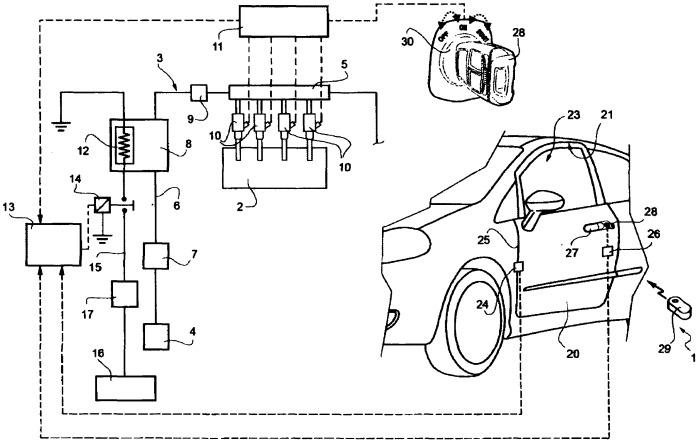 Система впрыска дизельного топлива в автотранспортном средстве, снабженном дизельным двигателем