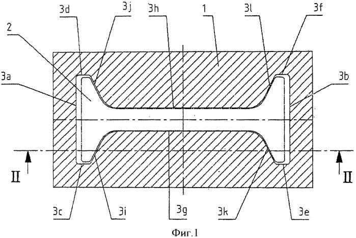 Кокиль для непрерывного литья черновых профилей, в частности, двутавровых черновых профилей