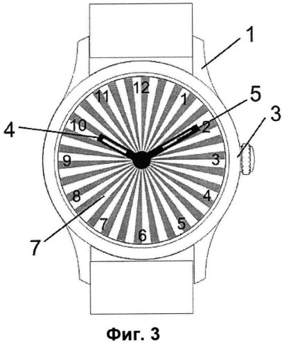 Способ индикации периодов суток на циферблате часов и часы с индикацией периодов суток на циферблате