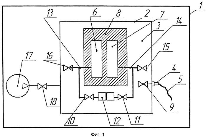 Устройство контроля герметичности крупногабаритных объектов