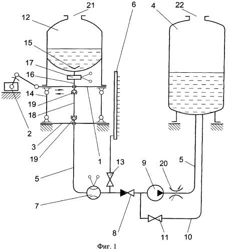 Стенд для определения гидравлических остатков незабора топлива в баке ракеты