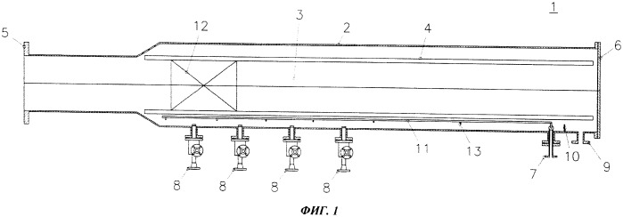Устройство приема скребка для очистки трубопровода