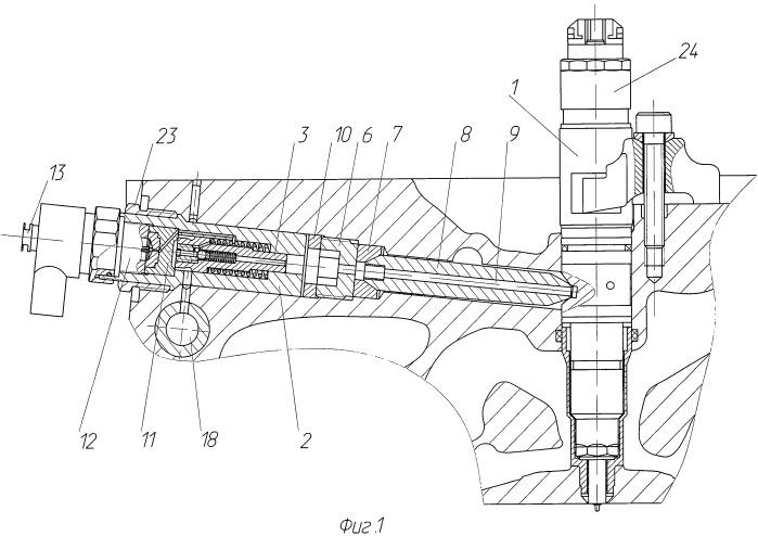 Устройство для подачи топлива к форсунке дизельного двигателя