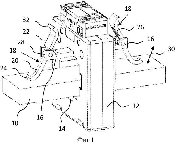 Устройство для разъемного крепления проводника к корпусу трансформатора