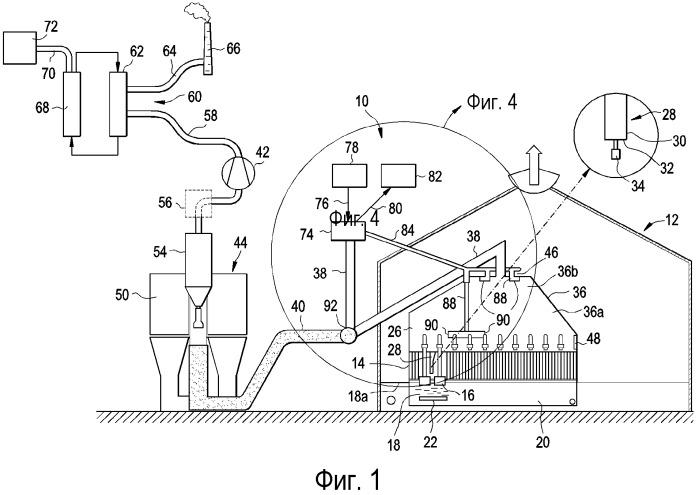 Распределение в электролизере рециркулируемого отходящего газа