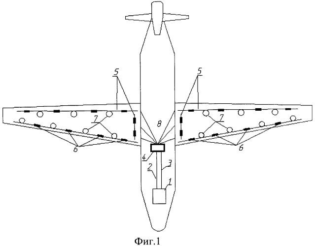 Система контроля технического состояния конструкций летательного аппарата (варианты)