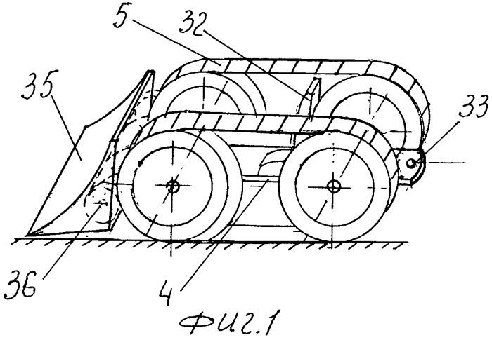 Транспорт повышенной проходимости с навесным оборудованием и ножным приводом