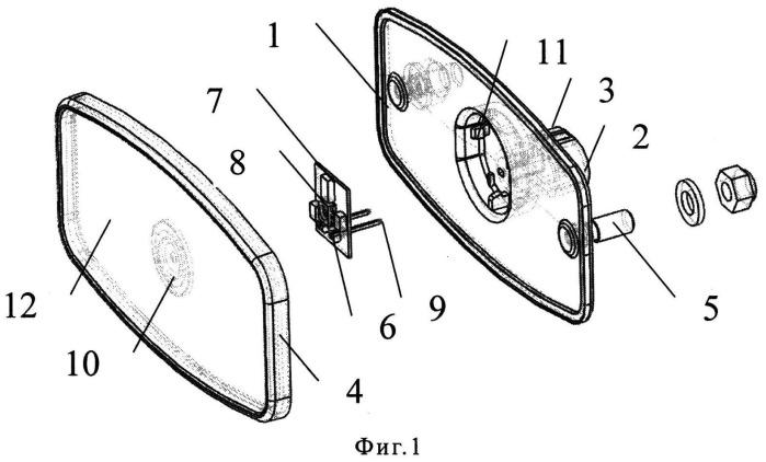 Габаритный фонарь транспортного средства с несменным источником света