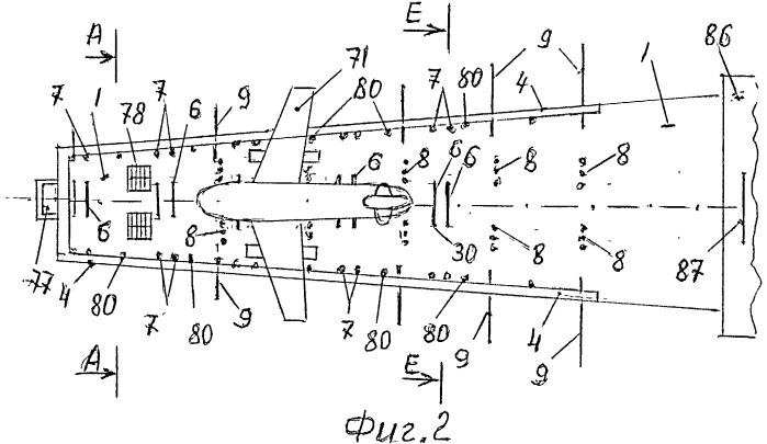Аэродромная установка для аварийного торможения самолетов