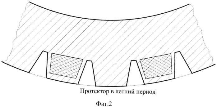 Шина с изменяемой формой протектора