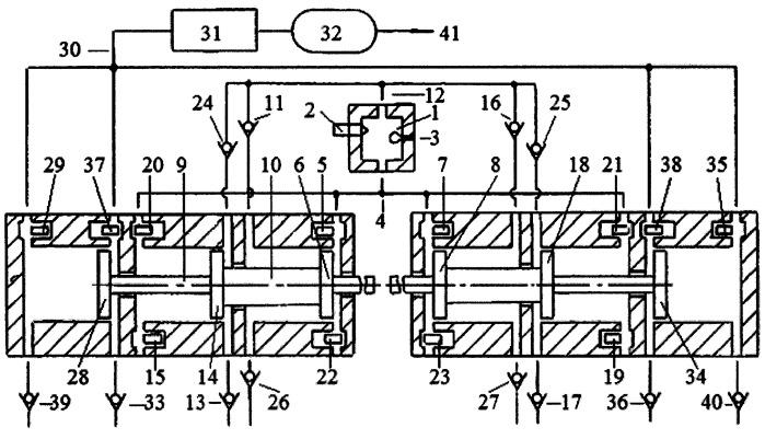 Способ привода поршней компрессора энергией газов из внешней камеры сгорания двухцилиндрового свободнопоршневого с оппозитным движением поршней энергомодуля