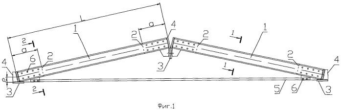 Трехшарнирная арка треугольного очертания