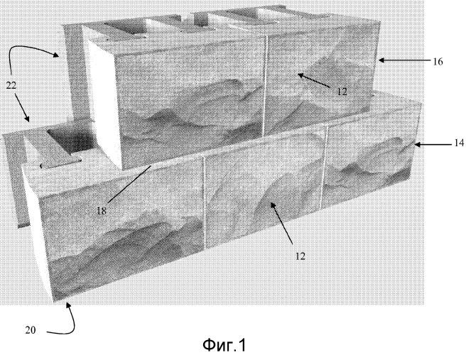 Многокомпонентный блок подпорной стенки