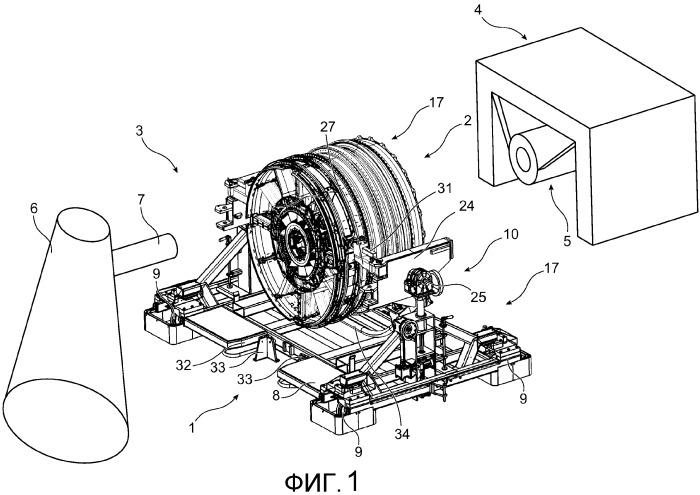 Тележка для перемещения модуля авиационного двигателя