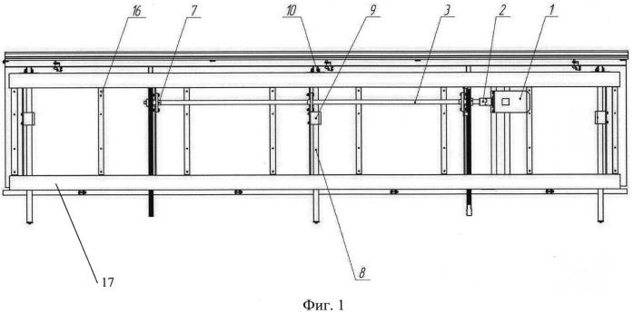 Площадка выдвижная сегментная для работы на крыше железнодорожных вагонов