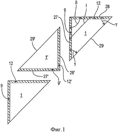 Способ и устройство для изготовления треугольных упаковочных пакетов