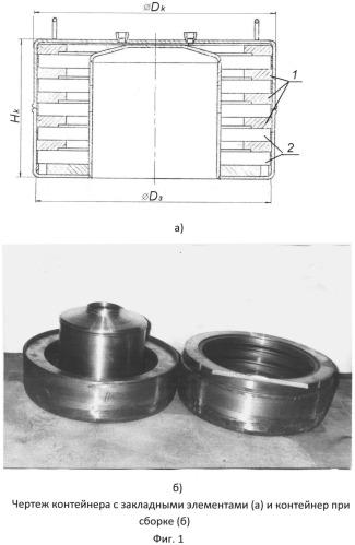 Контейнер для горячего изостатического прессования изделий из гранулированных металлических порошков