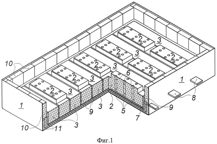 Футеровка алюминиевого электролизера с инертными анодами