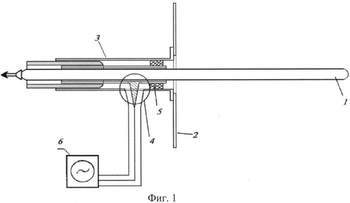 Плазменная вибраторная антенна с ионизацией поверхностной волной