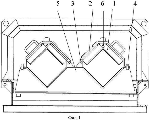 Устройство поджатия транспортируемых элементов в контейнере