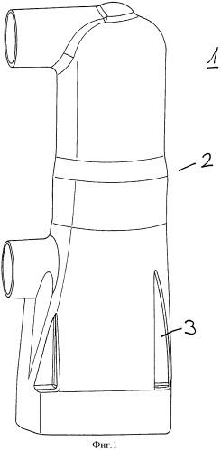 Встроенная полюсная часть с изоляционным корпусом, изготовленным из термопласта