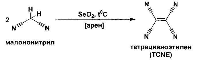 Способ синтеза тетрацианоэтилена на основе динитрила малоновой кислоты