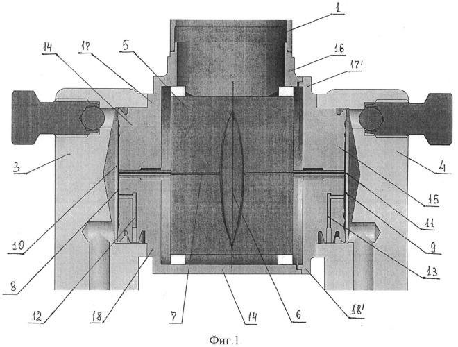 Конструкция бипланарного емкостного датчика перепада давления