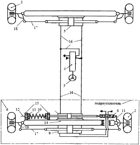 Рулевая система управления всеми колёсами трактора