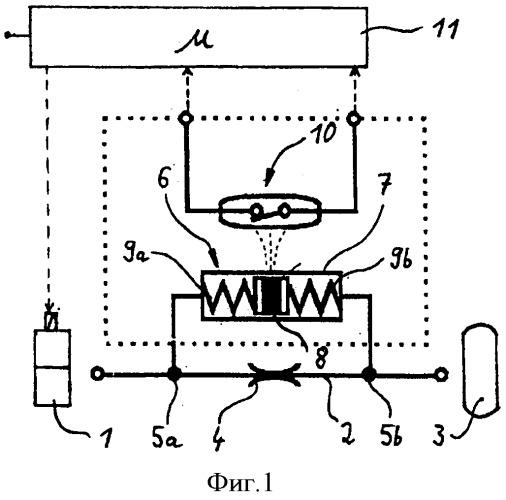 Устройство для сенсорного определения разности давлений в рабочем трубопроводе