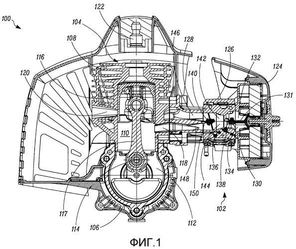 Устройство подачи воздуха для двухтактного двигателя внутреннего сгорания