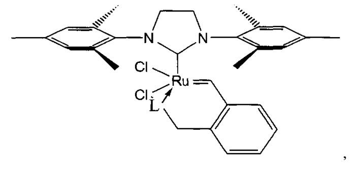 Катализатор метатезисной полимеризации дициклопентадиена в форме рутениевого комплекса и способ его получения