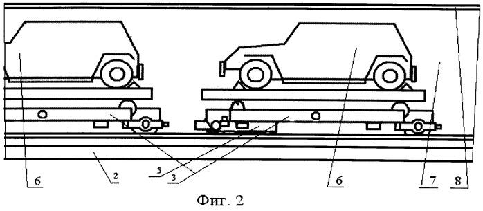 Способ хранения автомобилей для механизированного модульного гаража