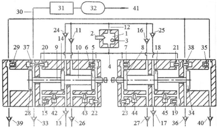 Способ рециркуляции выхлопных газов во внешнюю камеру сгорания свободнопоршневого с оппозитным движением поршней энергомодуля, соединенных с поршнями компрессора сжатия газов