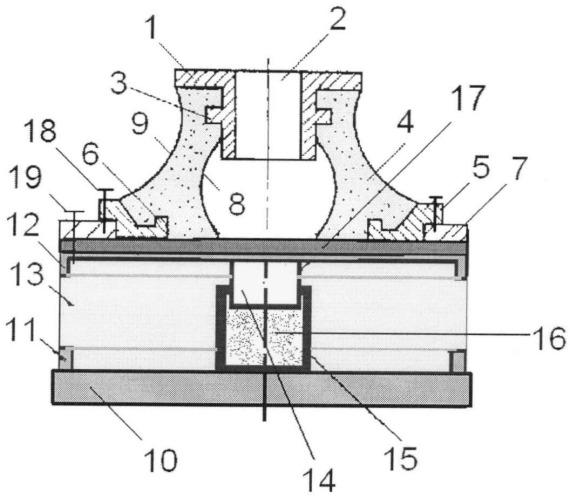 Резиновый виброизолятор с сетчатым демпфером