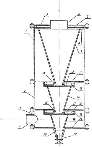 Каскадный гидродинамический фильтр-водоотделитель