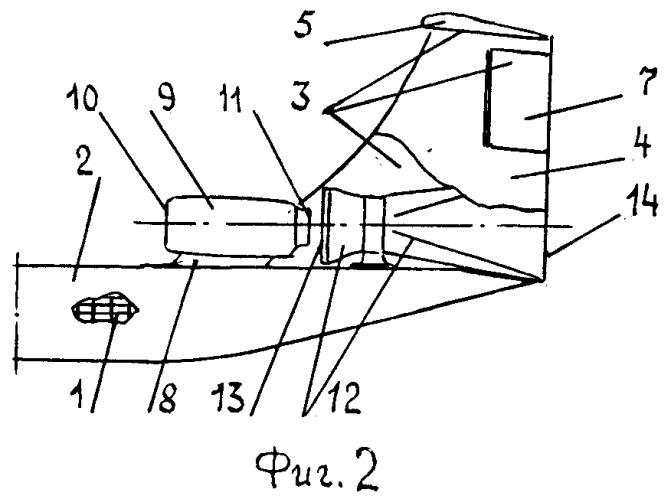 Хвостовая часть широкофюзеляжного самолета