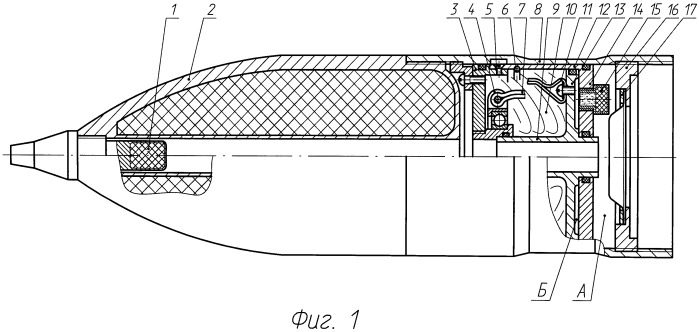 Система отделения и стабилизации для боевого отсека снаряда